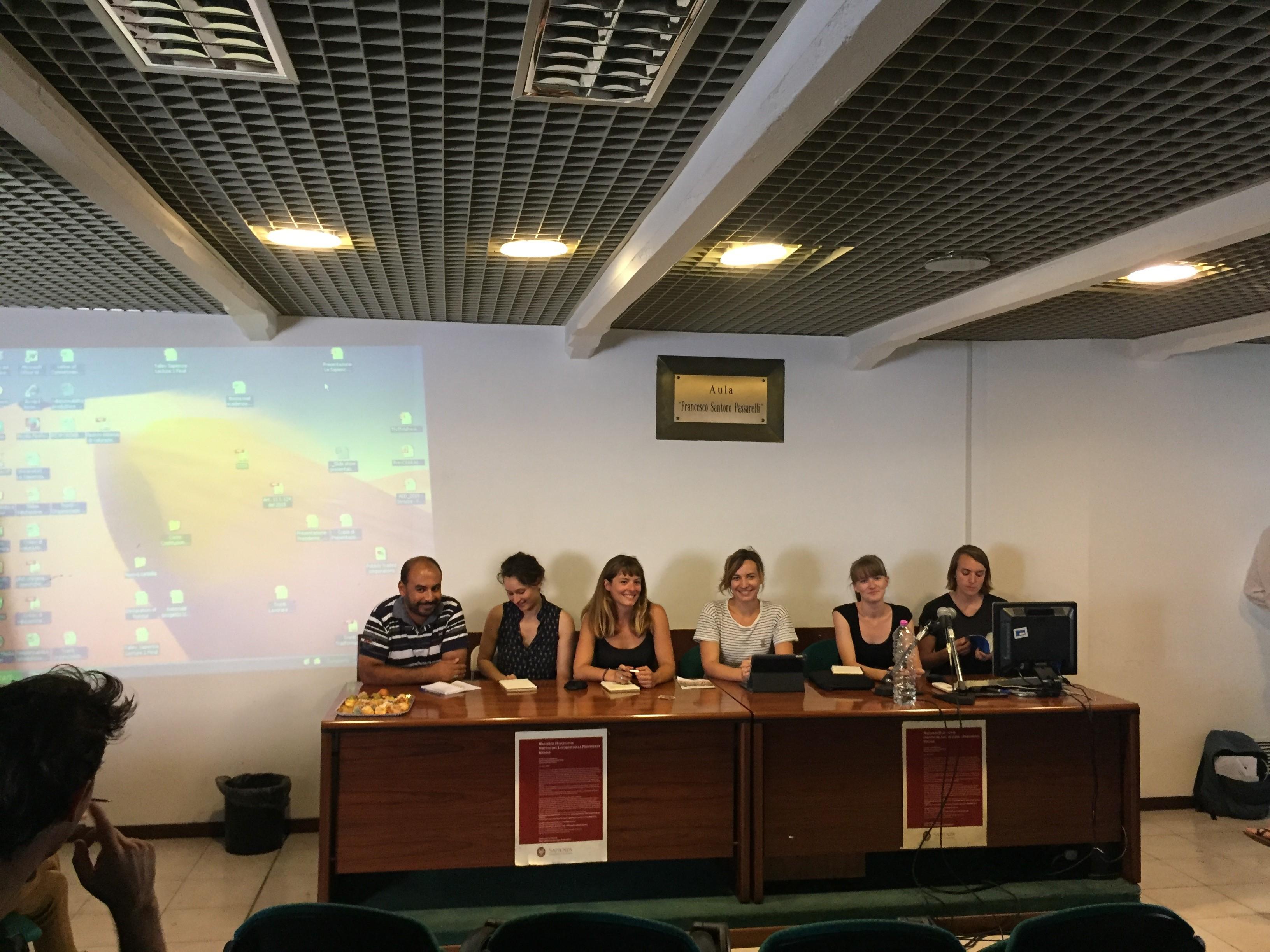 Restitution des travaux de la semaine par les doctorants (crédits photographiques : Céline Regnard, TELEMMe, AMU-CNRS)