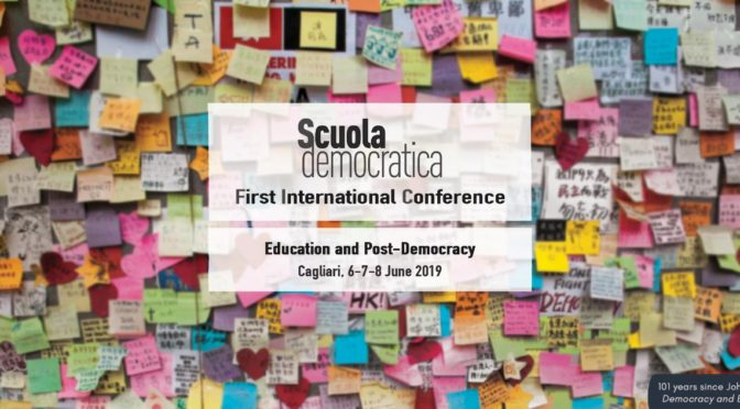 """""""Education, cultural heritages and the Mediterranean space"""", session du colloque Scuola Democratica (Cagliari, 6-8 juin 2019)"""