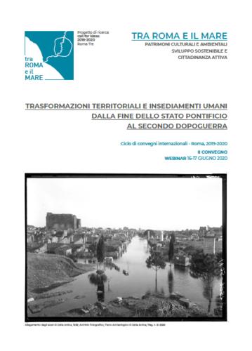 Affiche de la rencontre des 16 et 17 juin 2020 :  TRA ROMA E IL MARE.  PATRIMONI CULTURALI E AMBIENTALI  SVILUPPO SOSTENIBILE E  CITTADINANZA ATTIVA